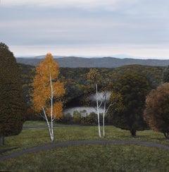 Eileen Murphy, Elegy II, oil on panel realist landscape painting, 2018