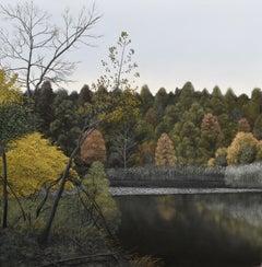 Eileen Murphy, Elegy IV, oil on panel realist landscape painting, 2018
