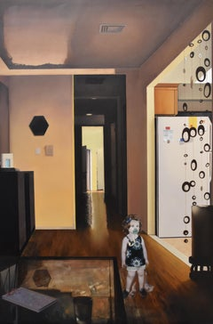 Eileen Murphy, Grace Out of Place, realist interior oil painting, 2013