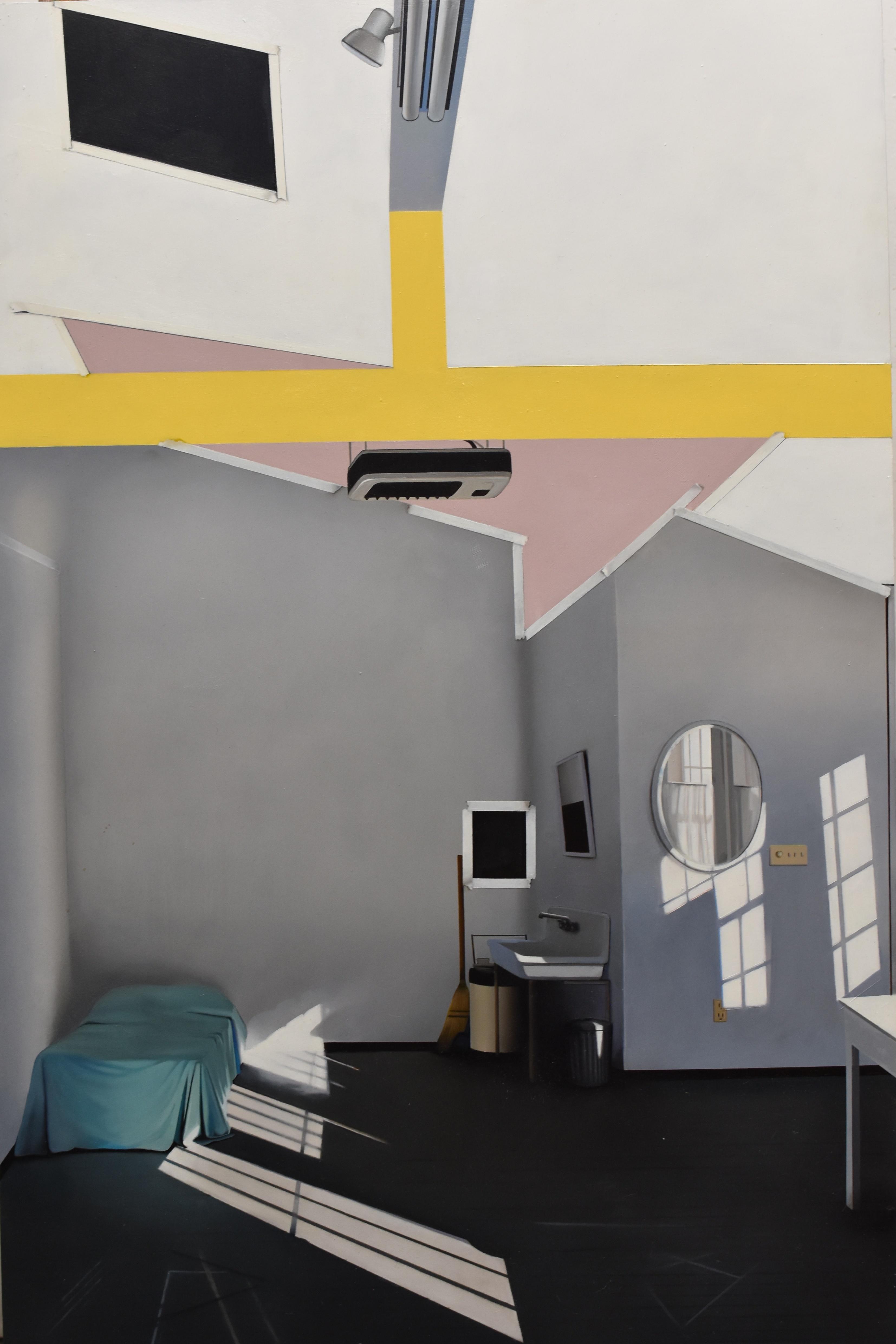 Stone Barn North, realist interior oil painting, 2013