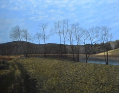 Eileen Murphy, The Gatekeepers, realist landscape oil painting, 2016