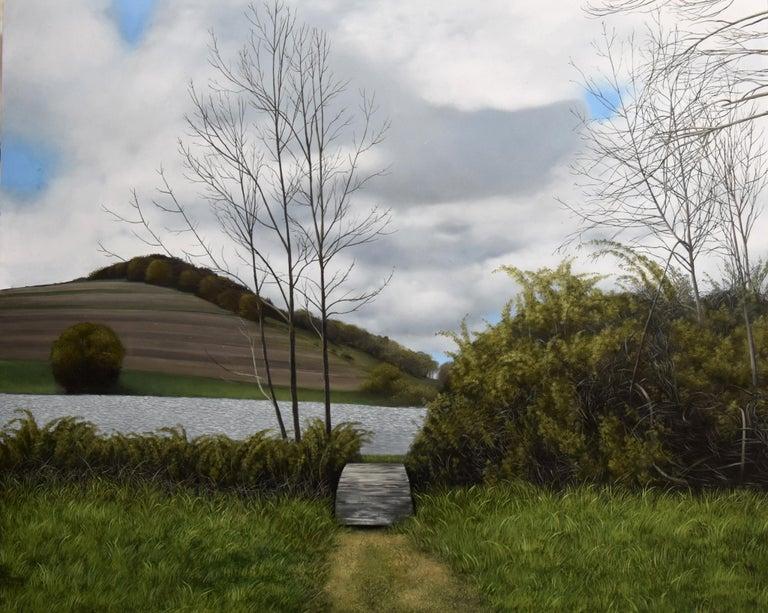 Eileen Murphy Landscape Painting - The Arch of Unimagined Bridges, realist landscape oil painting, 2017