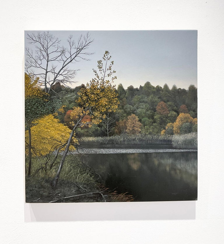 Indifferent Ponds (Photorealist Landscape Painting of the Hudson River Valley) For Sale 1