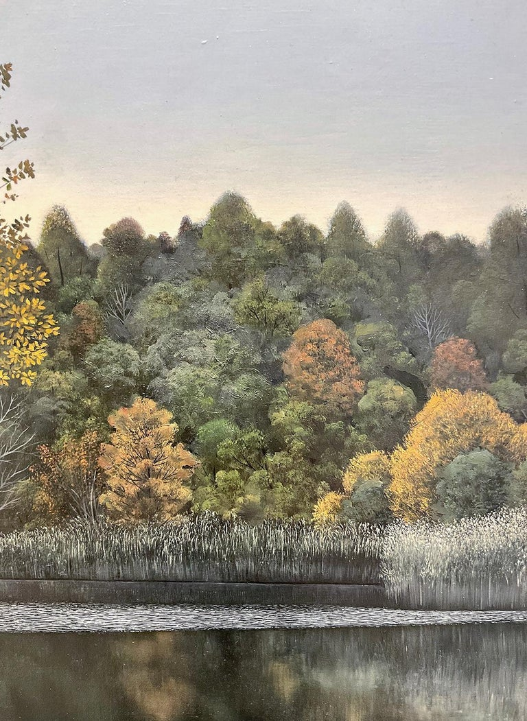 Indifferent Ponds (Photorealist Landscape Painting of the Hudson River Valley) For Sale 3