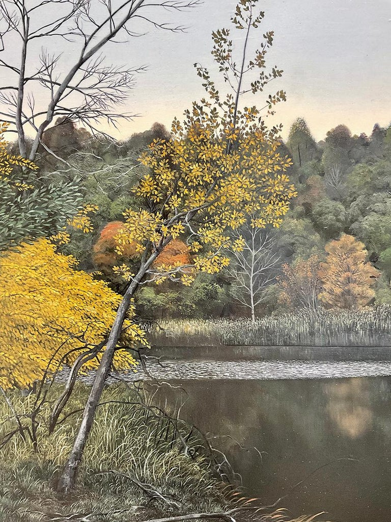 Indifferent Ponds (Photorealist Landscape Painting of the Hudson River Valley) For Sale 4