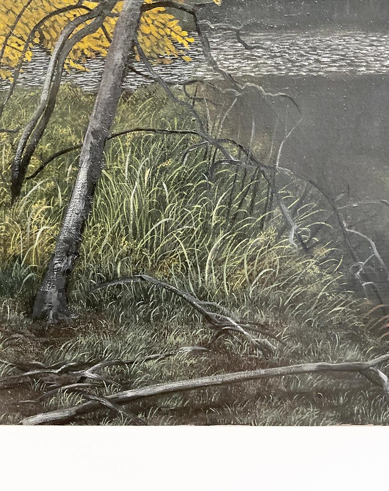 Indifferent Ponds (Photorealist Landscape Painting of the Hudson River Valley) For Sale 6