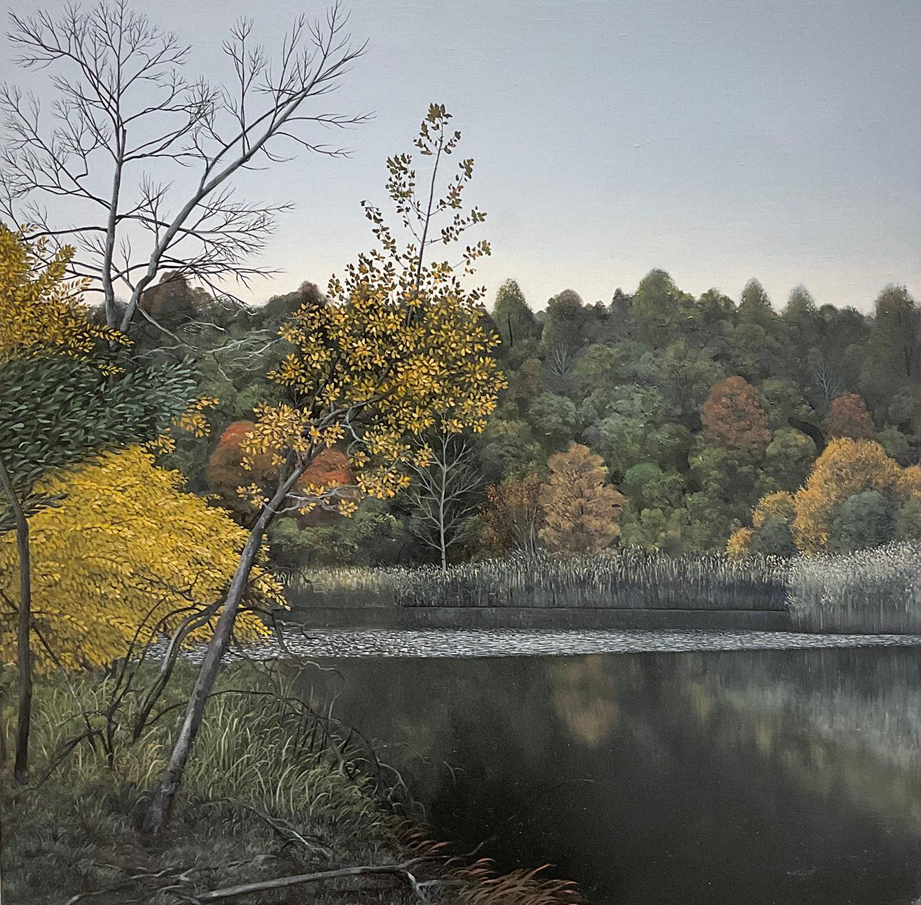 Indifferent Ponds (Photorealist Landscape Painting of the Hudson River Valley)