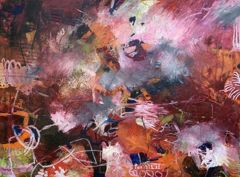Eileen Olson Abstract Painting - Living Vortex, Painting, Oil on Canvas