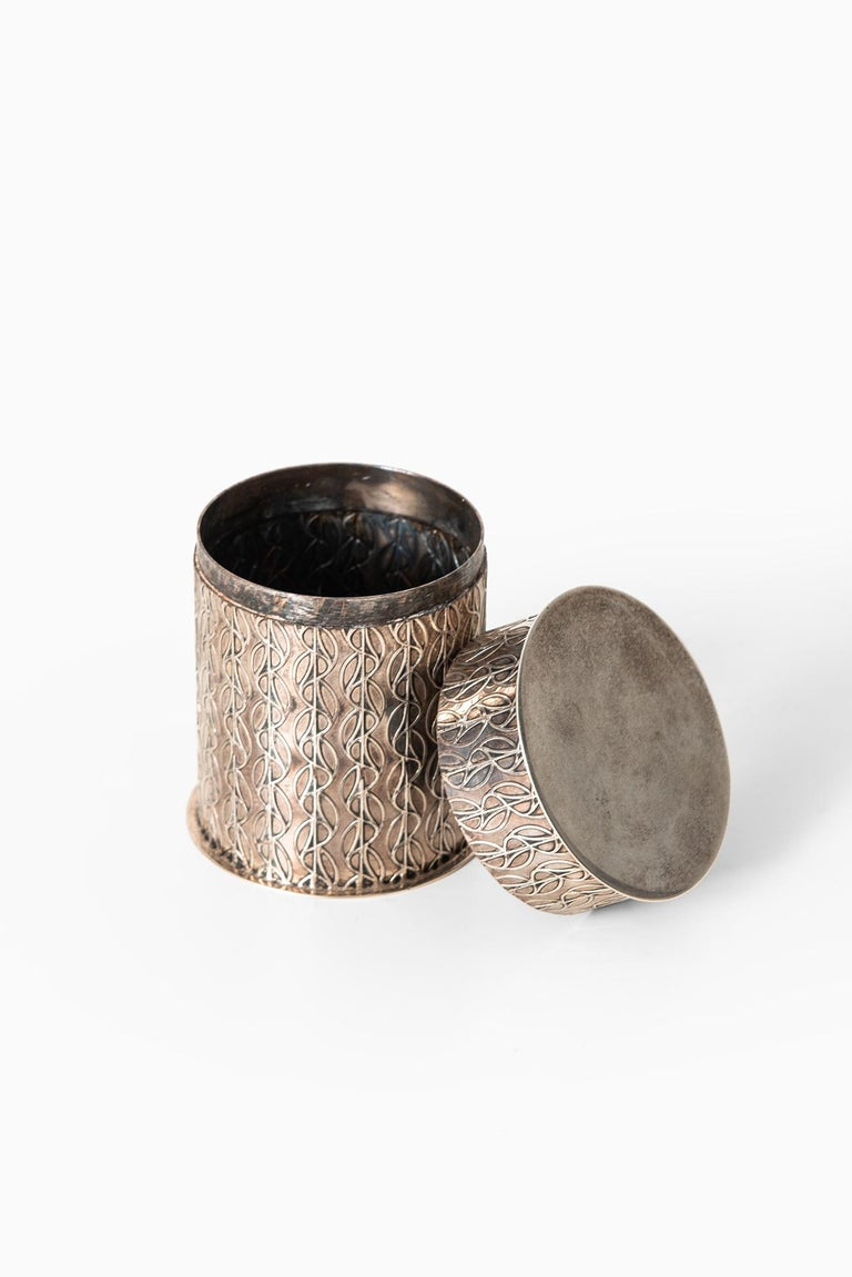 Danish Einar Dragsted Jar in Sterling Silver Produced in Denmark For Sale