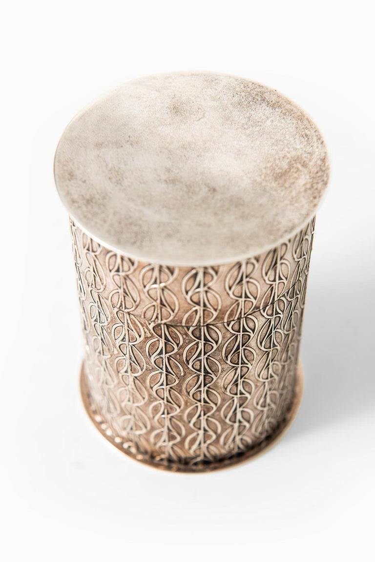 Einar Dragsted Jar in Sterling Silver Produced in Denmark In Excellent Condition For Sale In Malmo, SE