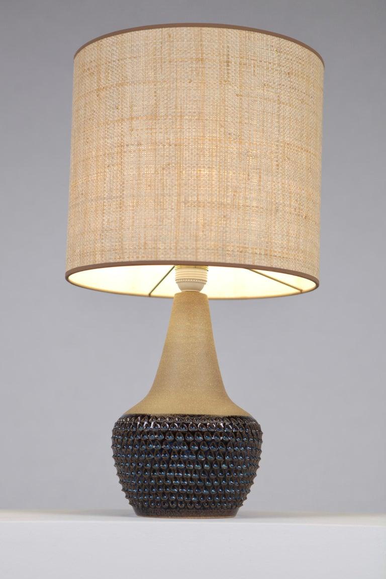 Scandinavian Modern Einar Johansen, Table Lamp, Glazed and Unglazed Stoneware, Söholm Stentöj, 1960s For Sale