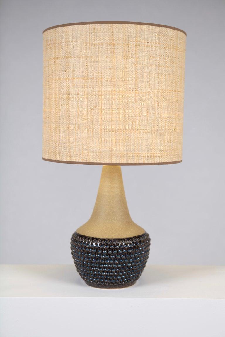 Mid-20th Century Einar Johansen, Table Lamp, Glazed and Unglazed Stoneware, Söholm Stentöj, 1960s For Sale