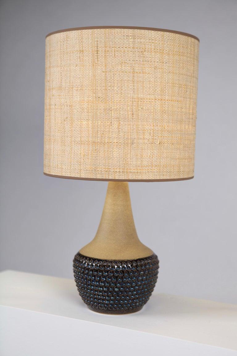 Einar Johansen, Table Lamp, Glazed and Unglazed Stoneware, Söholm Stentöj, 1960s For Sale 1