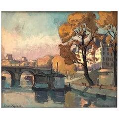Einar Wegener Painting, Pont Neuf, Paris, 1925