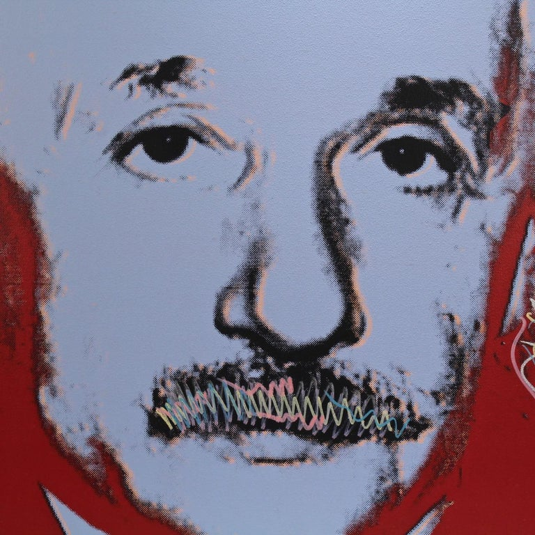 Einstein State I, a Pop-Art Screen-Print of Albert Einstein by Sak Steve Kaufman In Good Condition For Sale In Philadelphia, PA