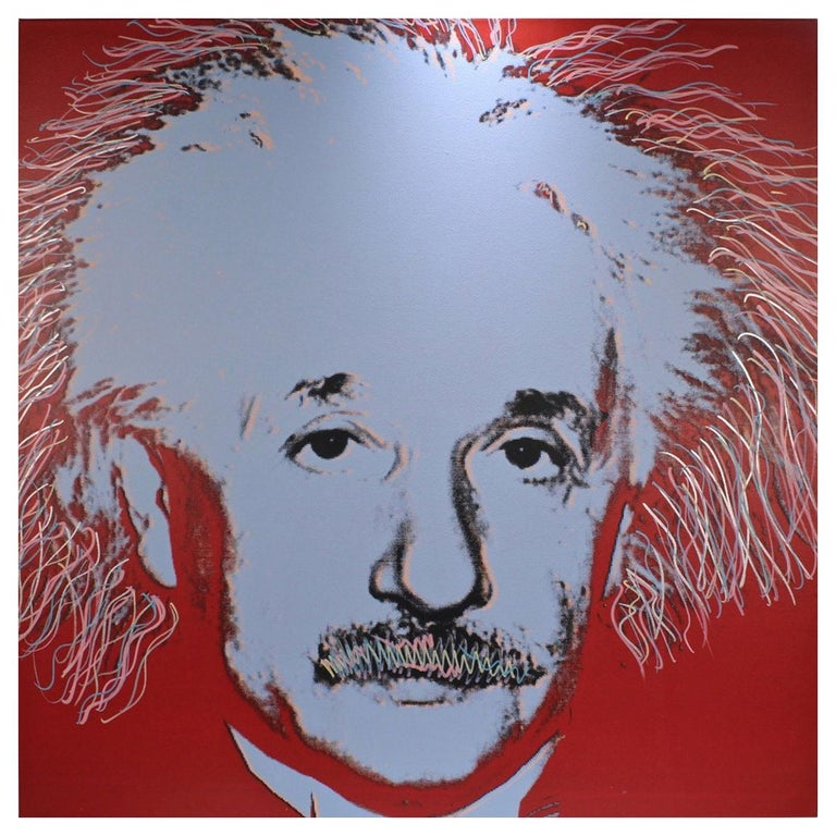 Einstein State I, a Pop-Art Screen-Print of Albert Einstein by Sak Steve Kaufman For Sale