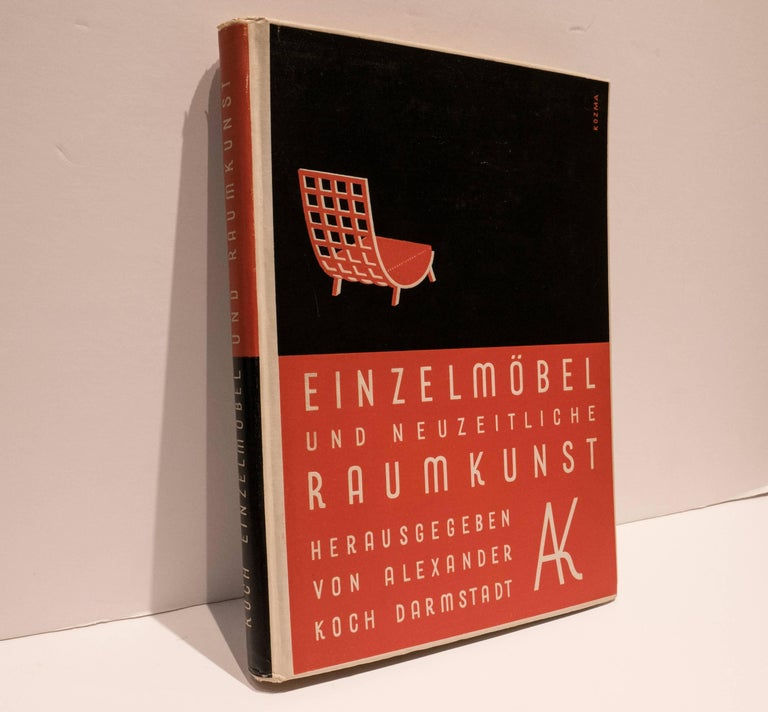 Seminal 1930 survey of early modernist furniture and interior design projects by known German and other European designers. Approximately 200 different designs featuring about 70 designs by Ludwig Kozma, who designed the striking red and black cover