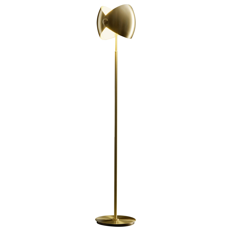 Eirene Brass Italian Floor Lamp