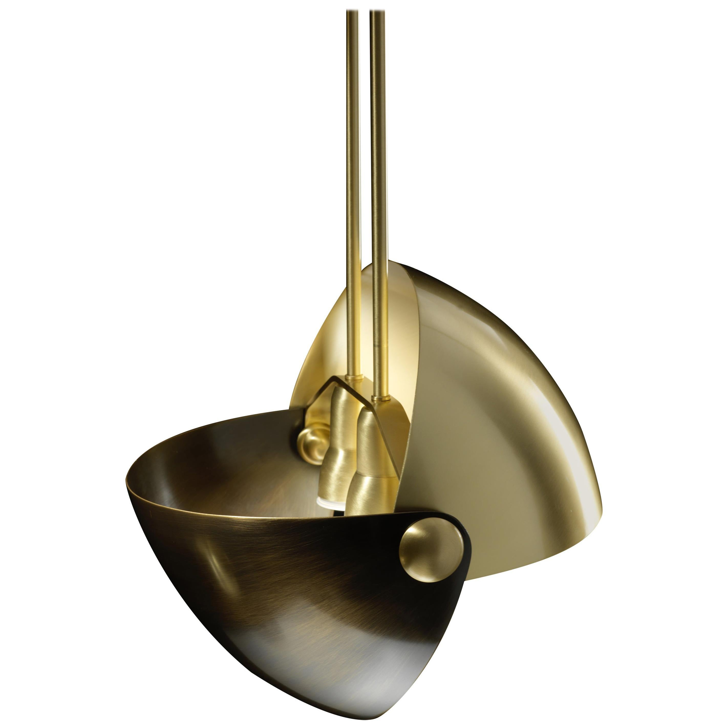 Eirene Brass Italian Pendant Lamp