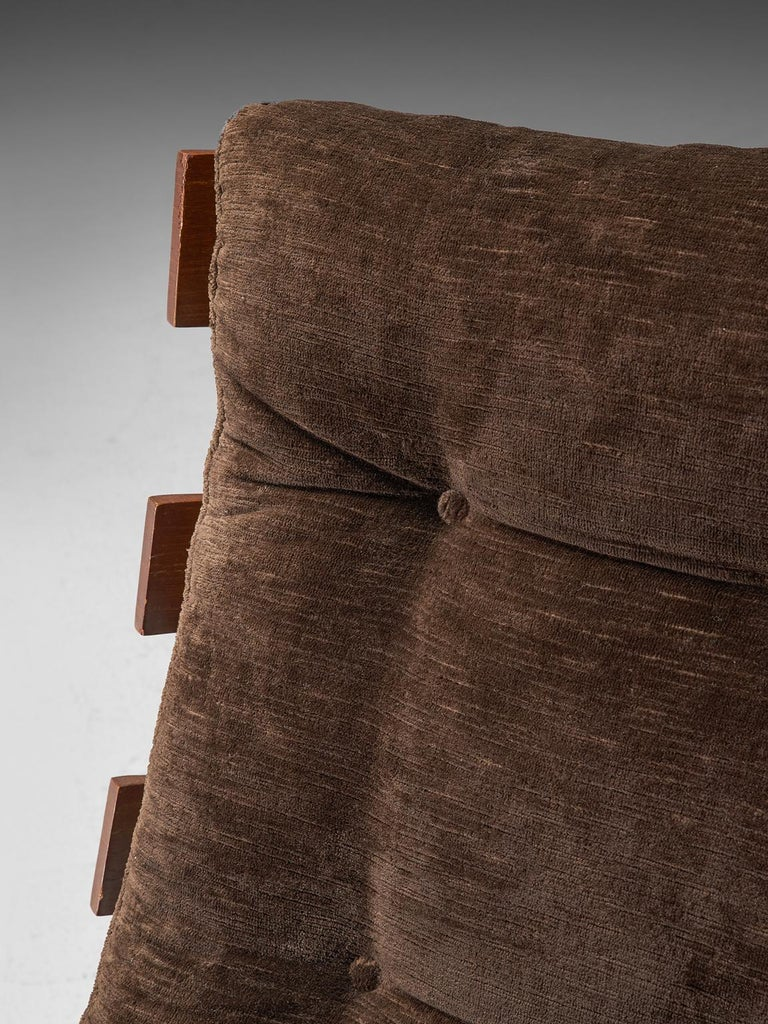 Eisler and Hauner 'Costela' Chair in Teak and Brown Upholstery 1