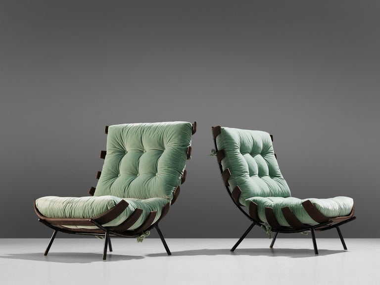 Mid-Century Modern Eisler and Hauner Patinated 'Costela' Chairs For Sale