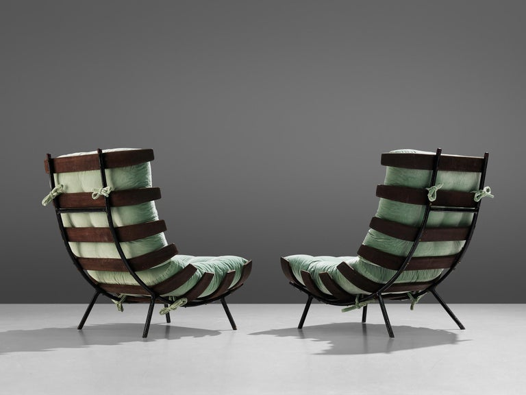 Brazilian Eisler and Hauner Patinated 'Costela' Chairs For Sale