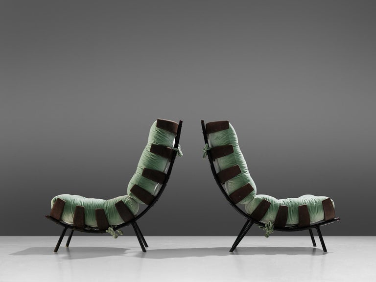 Eisler and Hauner Patinated 'Costela' Chairs In Good Condition For Sale In Waalwijk, NL