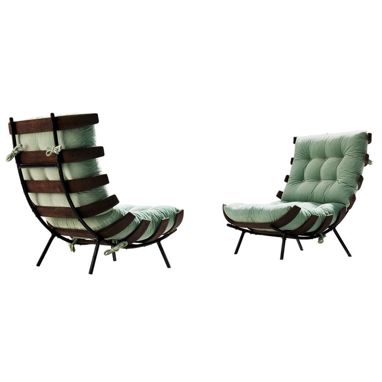 Eisler and Hauner Patinated 'Costela' Chairs For Sale