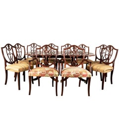 E.J Victor Mahogany Dining Table and Chairs