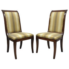E.J. Victor Saber Leg Regency Style Mahogany Dining Room Side Chairs a Pair
