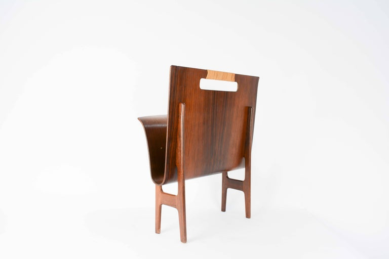 Ejnar Larsen & Axel Bender Madsen Rosewood Magazine Stand from Denmark In Good Condition For Sale In Portland, OR