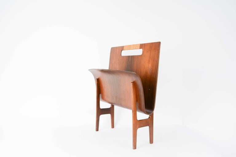 Mid-20th Century Ejnar Larsen & Axel Bender Madsen Rosewood Magazine Stand from Denmark For Sale