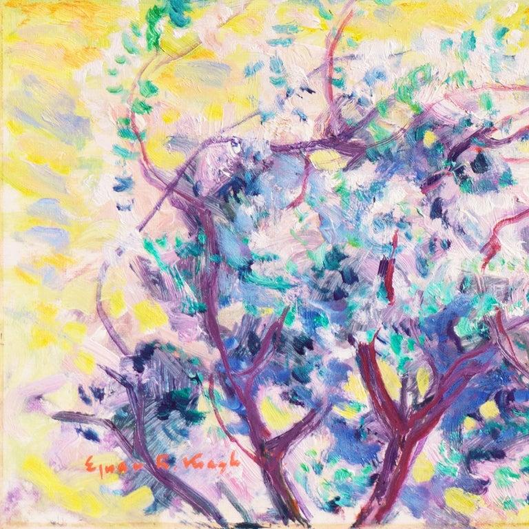 'Spring Landscape', Danish Post-Impressionist oil, Charlottenborg, Paris - Painting by Ejnar Kragh