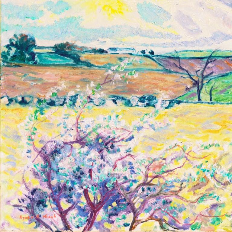 'Spring Landscape', Danish Post-Impressionist oil, Charlottenborg, Paris For Sale 1