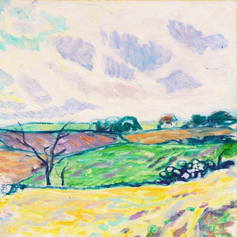 'Spring Landscape', Danish Post-Impressionist oil, Charlottenborg, Paris For Sale 2