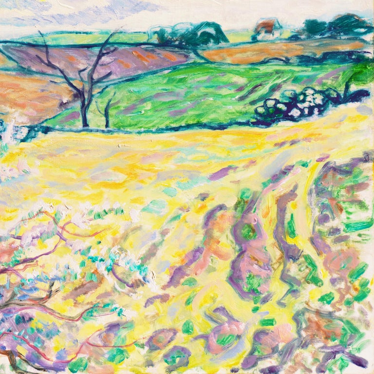 'Spring Landscape', Danish Post-Impressionist oil, Charlottenborg, Paris For Sale 3