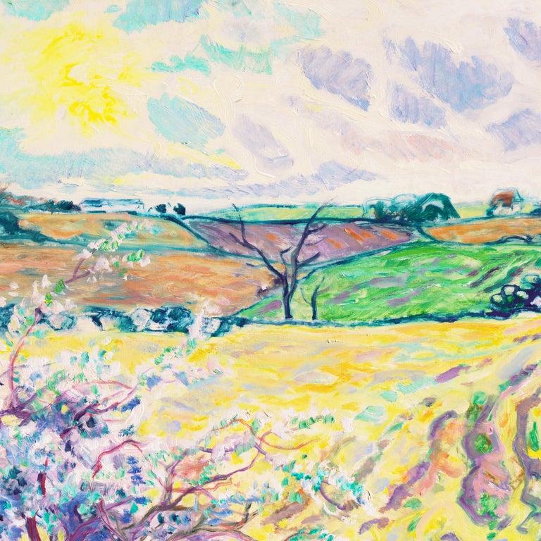 'Spring Landscape', Danish Post-Impressionist oil, Charlottenborg, Paris For Sale 4