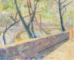 'Woman Walking Beside the Seine', Pont Neuf, Paris, French Post-Impressionist