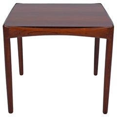 Ejner Larsen and Aksel Bender Madsen Rare Side Table in Solid Rosewood