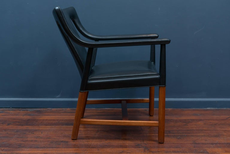Danish Ejner Larsen and Askel Bender Madsen Lounge Chair LP48 For Sale