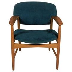 Ejner Larsen and Axel Bender Madsen Oak Armchair / Desk Chair, Inc. Reupholstery