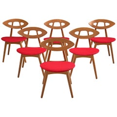 Ejvind A. Johansson 'Eye' Dining Chairs in Oak