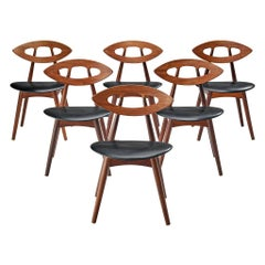 Ejvind A. Johansson Set of 6 'Eye' Dining Chairs