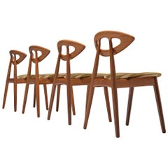 Ejvind A. Johansson 'Eye' Dining Chairs in Teak