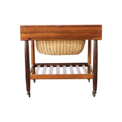 Rosewood Sewing Table by Ejvind Johannson, circa 1960s