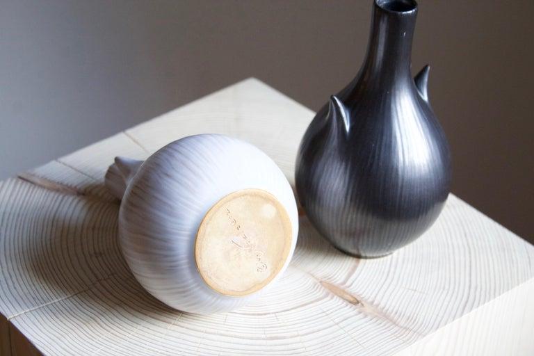 Ejvind Nielsen, Freeform Vases, Glazed Stoneware, Artists Studio, Denmark, 1950s In Good Condition For Sale In West Palm Beach, FL