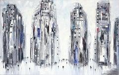 City Lights - Original Oil Painting
