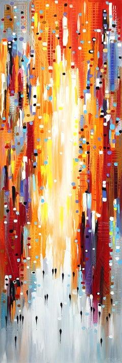 Orange Sky - Original Oil Painting