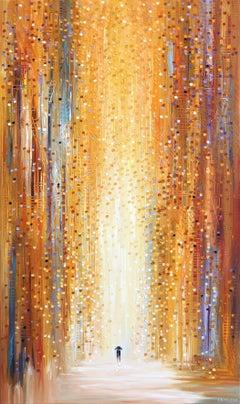 Rainy Sunset II - Original Oil Painting