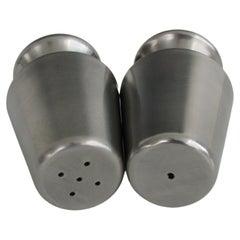 Ekco Eterna Japan Modernist Stainless Steel Salt Pepper Shakers